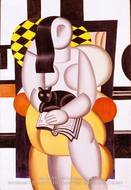 Woman with a Cat by Fernand Leger