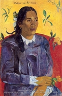 Woman with a Flower (Vahine no te tiare) by Paul Gauguin