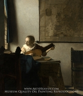 Woman with a Lute near a Window by Jan Vermeer