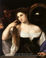 Woman with a Mirror by Titian