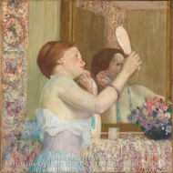 Woman with a Mirror (Femme qui se mire) by Frederick Carl Frieseke