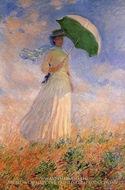 Woman with a Parasol Facing Right by Claude Monet