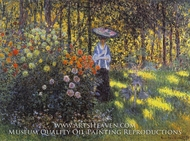 Woman with a Parasol in the Garden at Argenteuil by Claude Monet