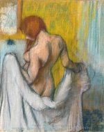 Woman with a Towel painting reproduction, Edgar Degas