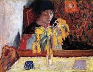 Woman with Mimosa by Pierre Bonnard