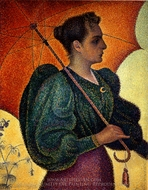 Woman with Umbrella painting reproduction, Paul Signac