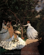 Women in a Garden painting reproduction, Claude Monet