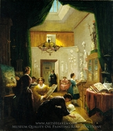 Women's Art Class painting reproduction, Louis Lang