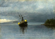 Wreck of the Ancon in Loring Bay, Alaska by Albert Bierstadt