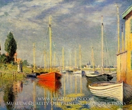 Yachts at Argenteuil by Claude Monet