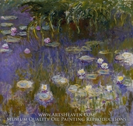 Yellow and Lilac Water Lilies by Claude Monet