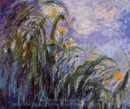 Yellow Irises painting reproduction, Claude Monet
