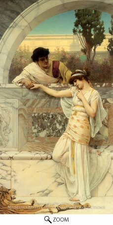 Painting Reproduction of Yes or No, John William Godward