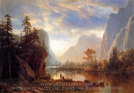 Yosemite Valley painting reproduction, Albert Bierstadt