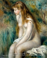 Young Girl Bathing by Pierre-Auguste Renoir