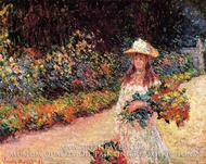 Young Girl in the Garden at Giverny by Claude Monet