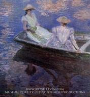 Young Girls in a Row Boat by Claude Monet