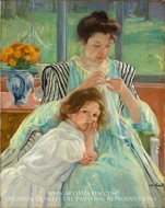 Young Mother Sewing by Mary Cassatt