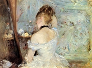 Young Woman at the Mirror painting reproduction, Berthe Morisot