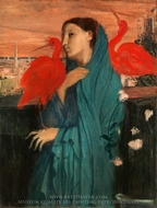 Young Woman with Ibis painting reproduction, Edgar Degas