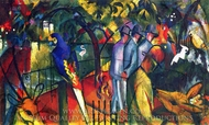 Zoological Garden I painting reproduction, August Macke
