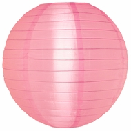 """10"""" Pink Nylon Lantern, Even Ribbing, Durable, Hanging (Light Not Included)"""