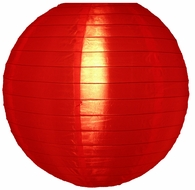 "10"" Red Nylon Lantern, Even Ribbing, Durable, Hanging (Light Not Included)"