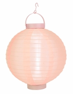 "10"" Rose Quartz Pink 16 LED Round Battery Operated Nylon Lantern"