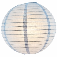 "16"" Serenity Blue Round Paper Lantern, Even Ribbing, Hanging (Light Not Included)"