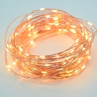 100 Warm White LED Waterproof Copper Wire Micro Fairy String Lights (33ft, AC Plug-In)
