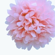"12"" Light Pink Tissue Paper Pom Poms Flowers Balls, Decorations (4 PACK)"