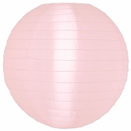 "12"" Rose Quartz Pink Nylon Lantern, Even Ribbing, Durable, Hanging (Light Not Included)"
