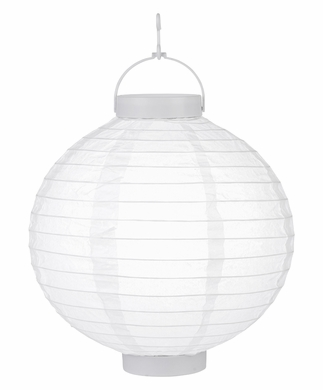 """12"""" Wireless 8-LED White Remote Controlled Paper Battery Lantern Light"""