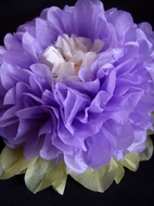 "BLOWOUT 14"" Multi-Color Tissue Paper Flower Decorations (Lavender Combo, 3 PACK)"