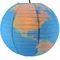 "14"" Geographical World Map Earth Globe Paper Lantern"