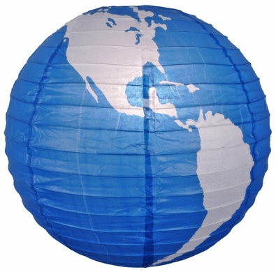 16 Quot World Globe Paper Lantern From Asianimportstore At The