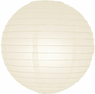"12"" Beige / Ivory Round Paper Lantern, Even Ribbing, Hanging (Light Not Included)"