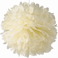"12"" Beige Tissue Paper Pom Poms Flowers Balls, Decorations (4 PACK)"