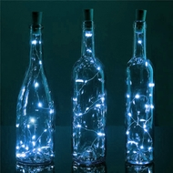 20 Cool White LED Cork Wine Bottle Lamp Fairy String Light Stopper, 40-Inch