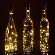 20 Warm White LED Cork Wine Bottle Lamp Fairy String Light Stopper, 40-Inch