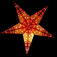 "24"" Multi-Color Garden Paper Star Lantern, Hanging (Light Not Included)"