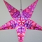 "24"" Pink Heart's Desire Glitter Paper Star Lantern, Hanging (Light Not Included)"