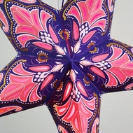 "24"" Pink / Purple Flemenco Glitter Paper Star Lantern, Hanging (Light Not Included)"
