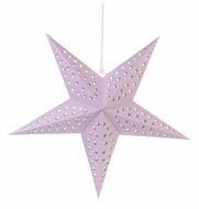 "24"" Solid Pink Cut-Out Paper Star Lantern, Hanging (Light Not Included)"