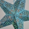 "24"" Turquoise Winds Red Glitter Paper Star Lantern, Hanging (Light Not Included)"