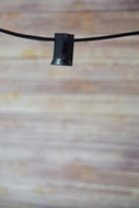 (Cord Only) 25 Socket Outdoor Patio DIY String Light, 28 FT Black w/ E12 Base