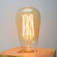 25-Watt Incandescent ST64 Vintage Edison Light Bulb, Squirrel Cage Filament, E26 Base