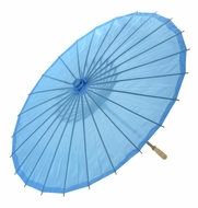 "28"" Sky Blue Parasol Umbrella, Premium Nylon"