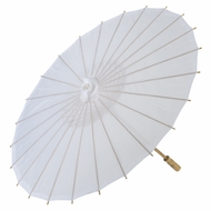"28"" White Parasol Umbrella, Premium Nylon"