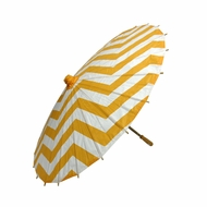 "BLOWOUT 32"" Orange Chevron Paper Parasol Umbrella"